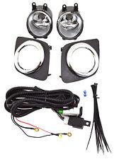 OE Fitment Bumper Fog lights with Bezel Pair Switch Harness Set for Rav4 09-12