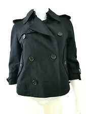 COMME DES GARCONS TRICOT DOUBLE-BREASTED JACKET BLACK SIZE S