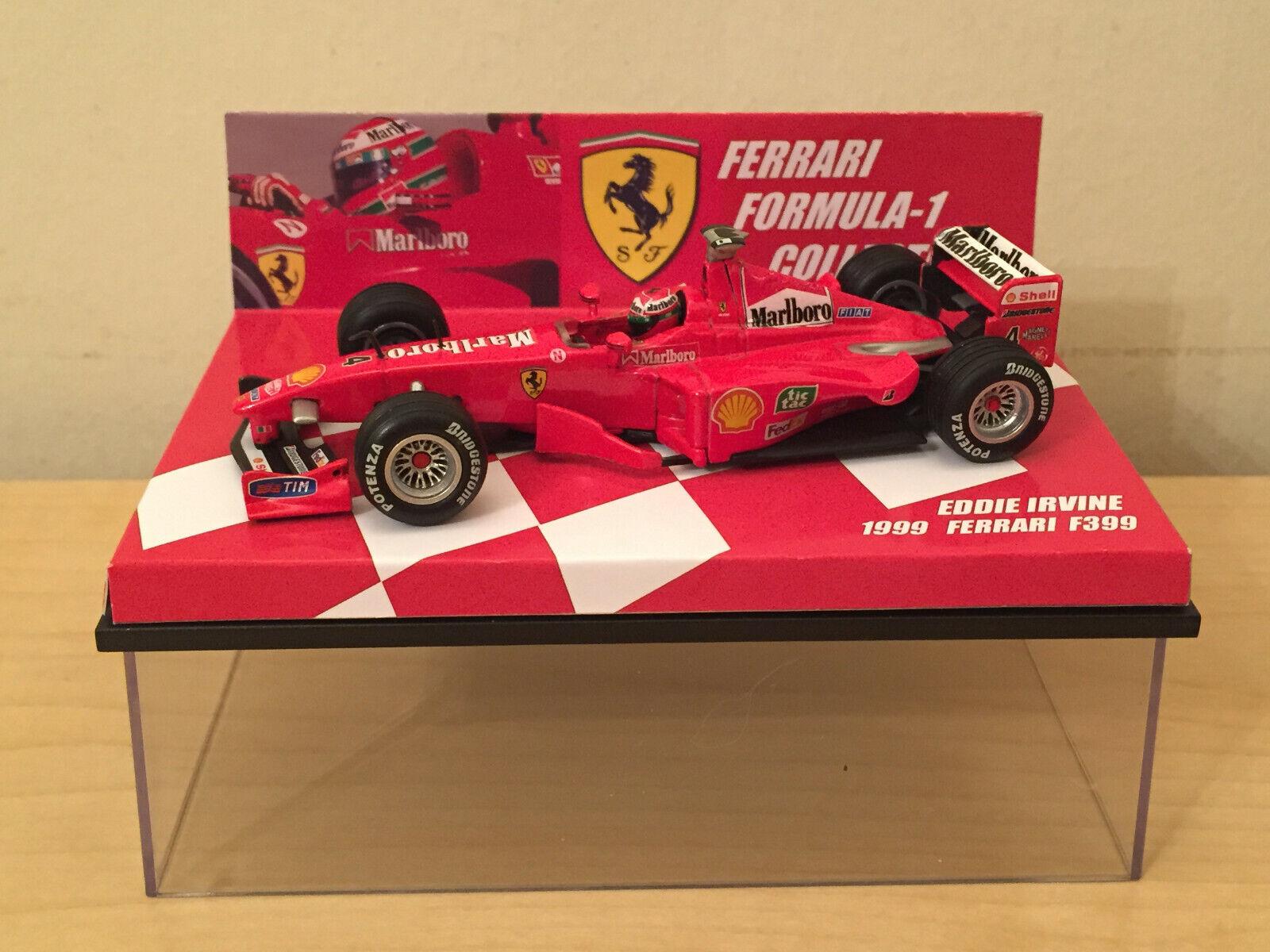 1 43 Hot Wheels Ferrari F399 1999 Eddie Irvine con plena librea de tabaco
