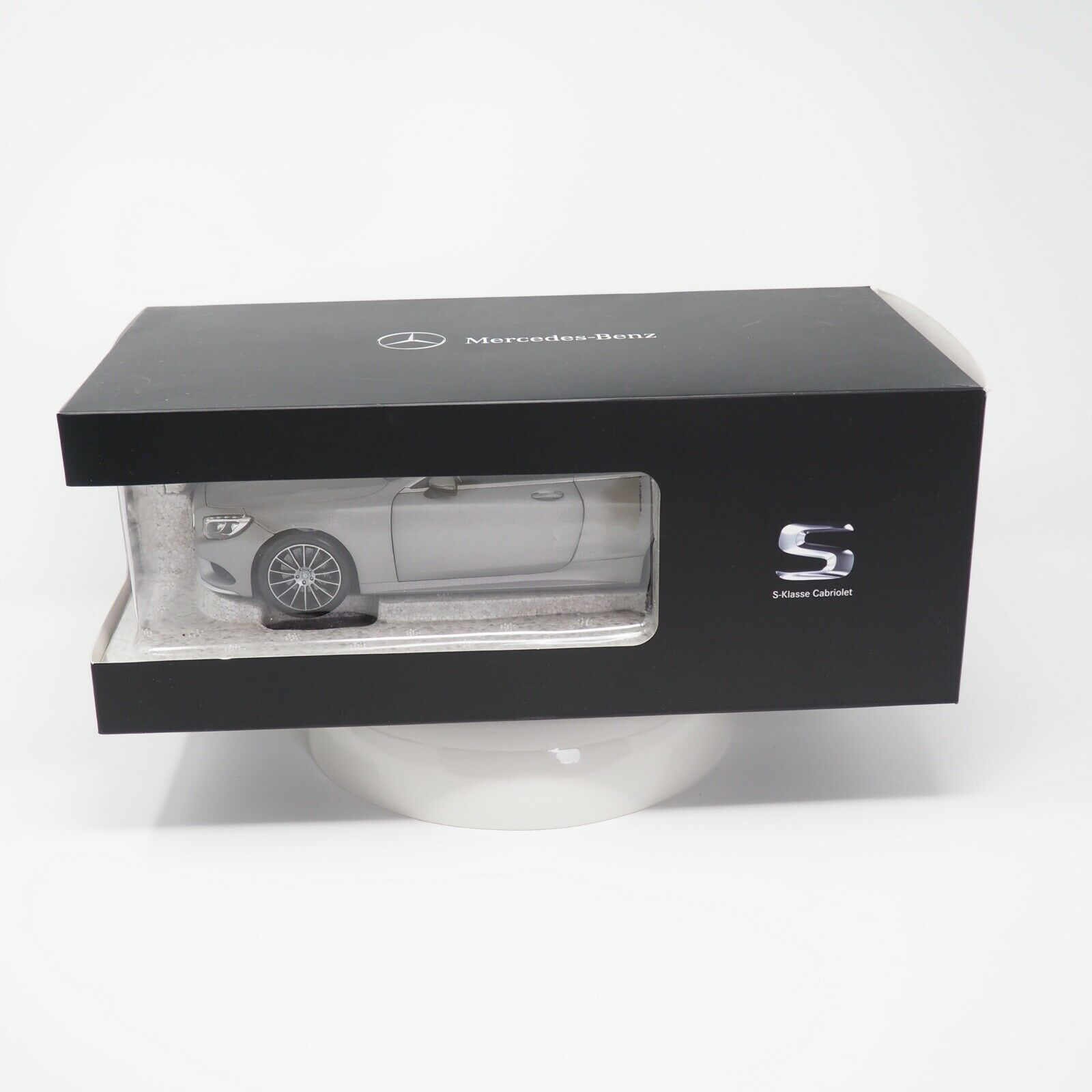 Norev 1 18 Mercedes Benz S-Klasse Cabrio Cabriolet silber