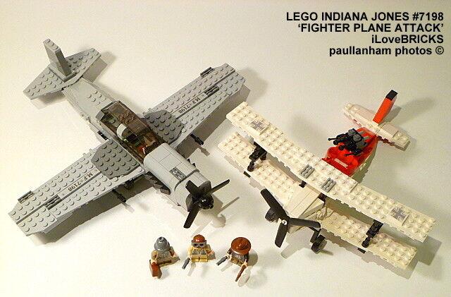 LEGO INDIANA JONES Aereo da caccia Attacco Set 7198 100%  GARANZIA COMPLETA  economico e di alta qualità