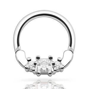 Skull-Center-Casted-316L-Stainless-Steel-Septum-Clicker-Nose-Ring-14G-or-16G-NEW