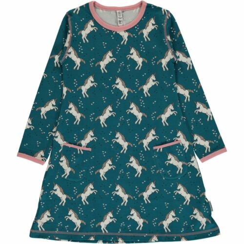 Maxomorra Organic Cotton Unicorn Dress