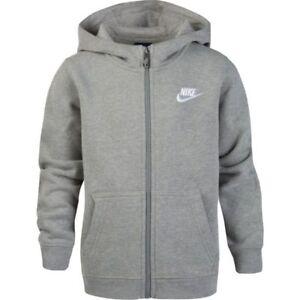2a0dbfd47ed4 Nike Little Boys  Club Fleece Full Zip Hoodie Junior Hooded Top ...