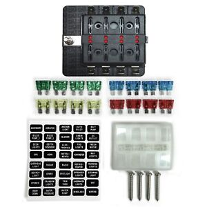 8 Way 12v Blade Fuse Box Distribution Block With Led Indicators Hot