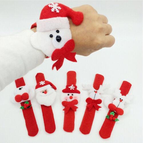2pcs//set Slap Wristband Bracelet For Christmas Xmas Party festival Decor JS