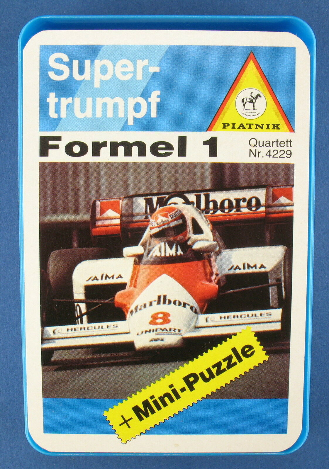 Quartett - Formel 1 - Piatnik + 2 Mini-Puzzle - Nr. 4229 - Auto Kartenspiel