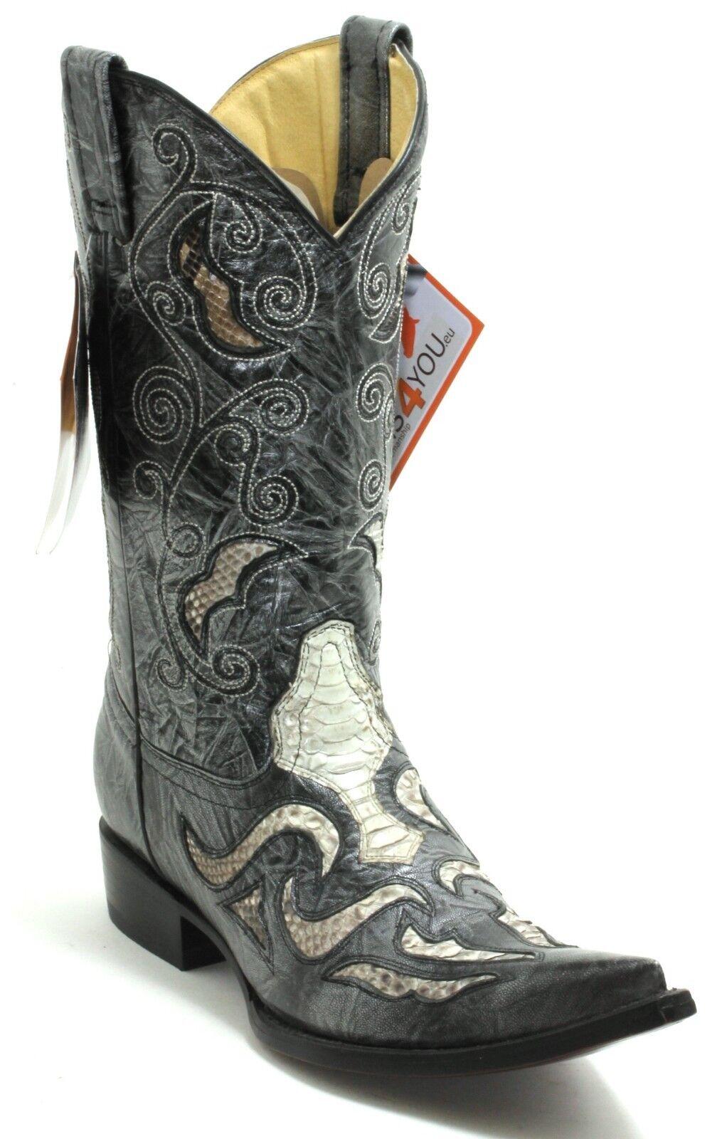 226 Cowboystiefel Westernstiefel Texas Stiefel Western Western Western Lederstiefel Rudel 39,5-40 161367
