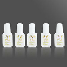 5 Bottles 10g Pro Nail Art BYB #401 Strong Glue With BRUSH for Tips Decoration