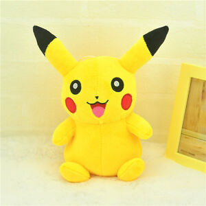 Cute-Pokemon-Go-8-034-Pikachu-Plush-Soft-Toy-Stuffed-Animal-Cuddly-Doll-Xmas-Gift