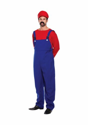 ADULT WORKMEN Mens Super Plumber Couples Fancy Dress Costume Outfits Stag Night