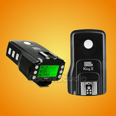 PIXEL KING Pro for CANON E-TTL LCD Wireless Flash Speedlite Trigger (TX + RX)