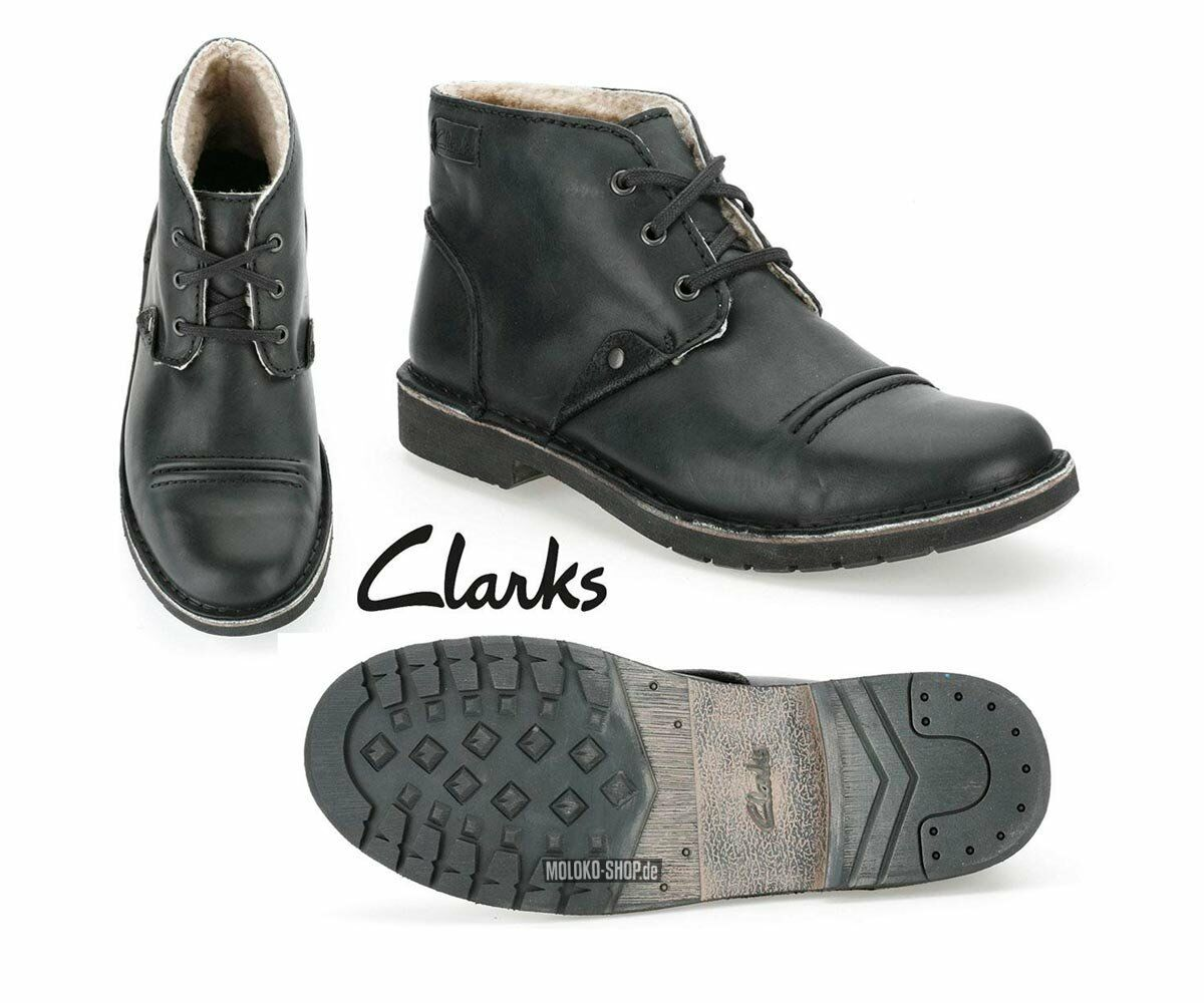 Clarks MENS ** MOTIVE MIX ** BLACK LEA UK ** 54 WOOL ** UK LEA 10.5 G 5ffc28