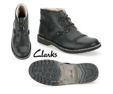 Clarks da Uomo ** movente MIX BLACK Stivali ** Caldi Fodera ** UK 10 / 44,5