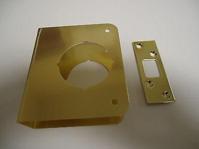 """Entry Deadbolt Door Repair Cover Brass 2-3//8/"""" Backset 1-3//8/"""" Door Thickness"""