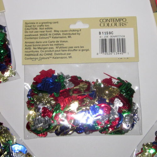 I 6 bags of G JOE Confettio's 1998 Metallic Confetti 2 oz GI JOE crafts decor