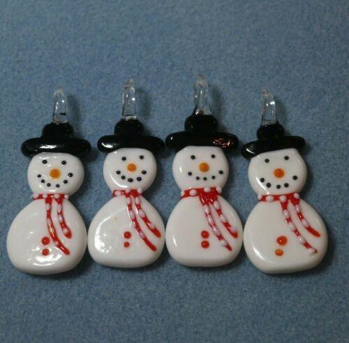 Joblot of Snowman Snowmen Pendant Christmas Ornament Decoration Jewellery Making