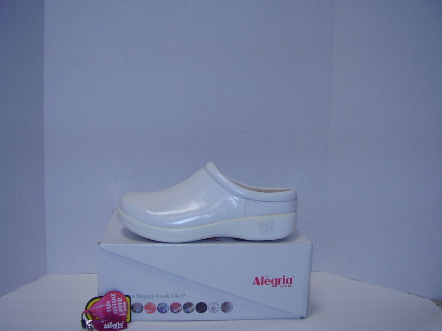 NEW ALEGRIA KAYLA KAY-100 damen Weiß PATENT LEATHER PROFESSIONAL CLOGS CLOGS CLOGS EU 40 64945c