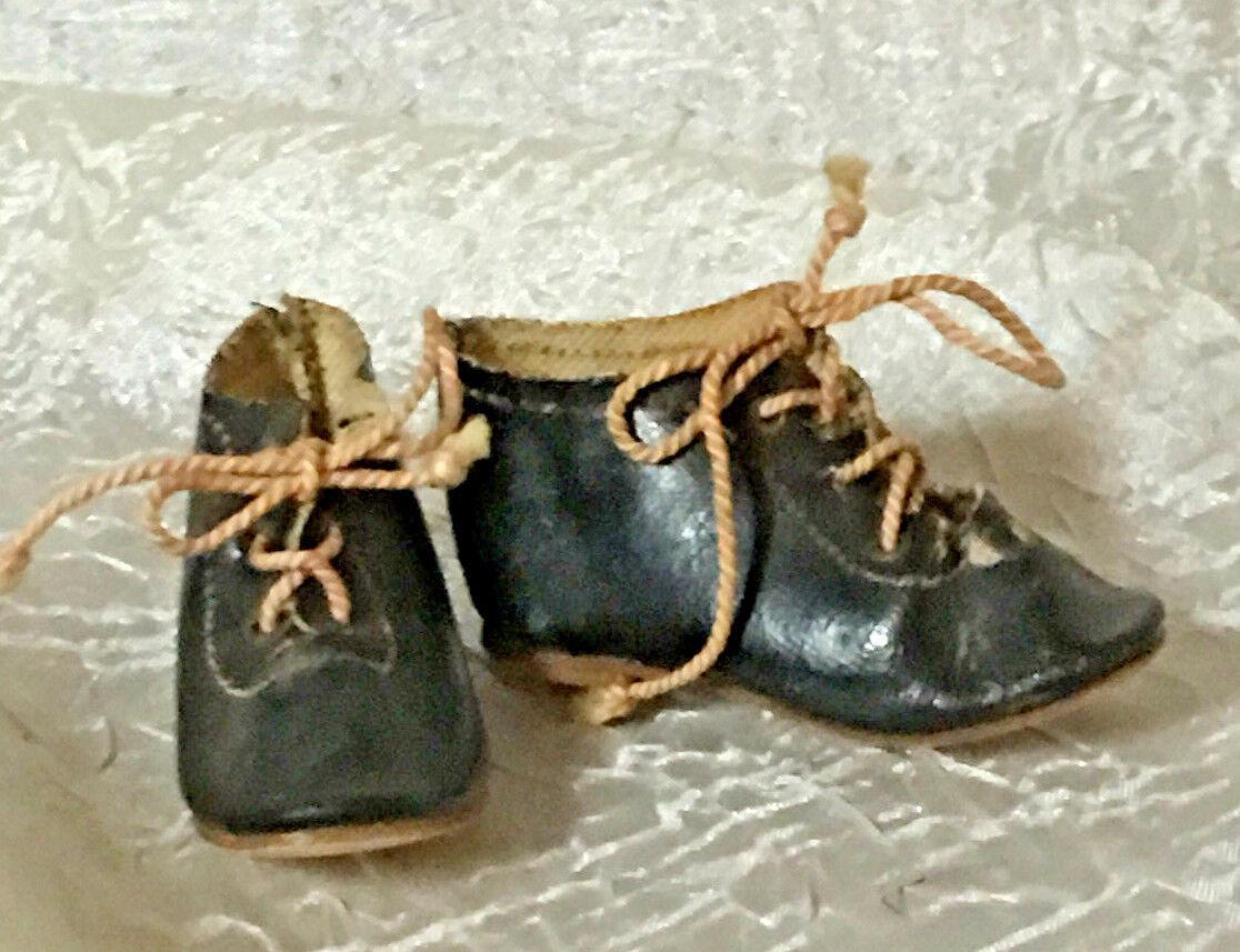 Zapatos de Cuero Antiguo Dulce para tu muñeca de moda francesa-marcado 5
