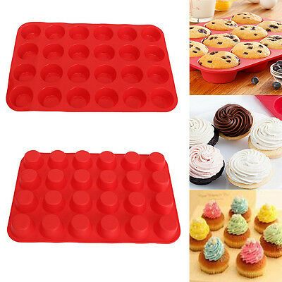 Silicone Nonstick 24&12 Cup Muffin Pan Easy to Clean Baking Tool Kitchen Tool