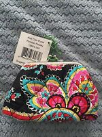 Vera Bradley Kiss Coin Purse Parisian Paisley