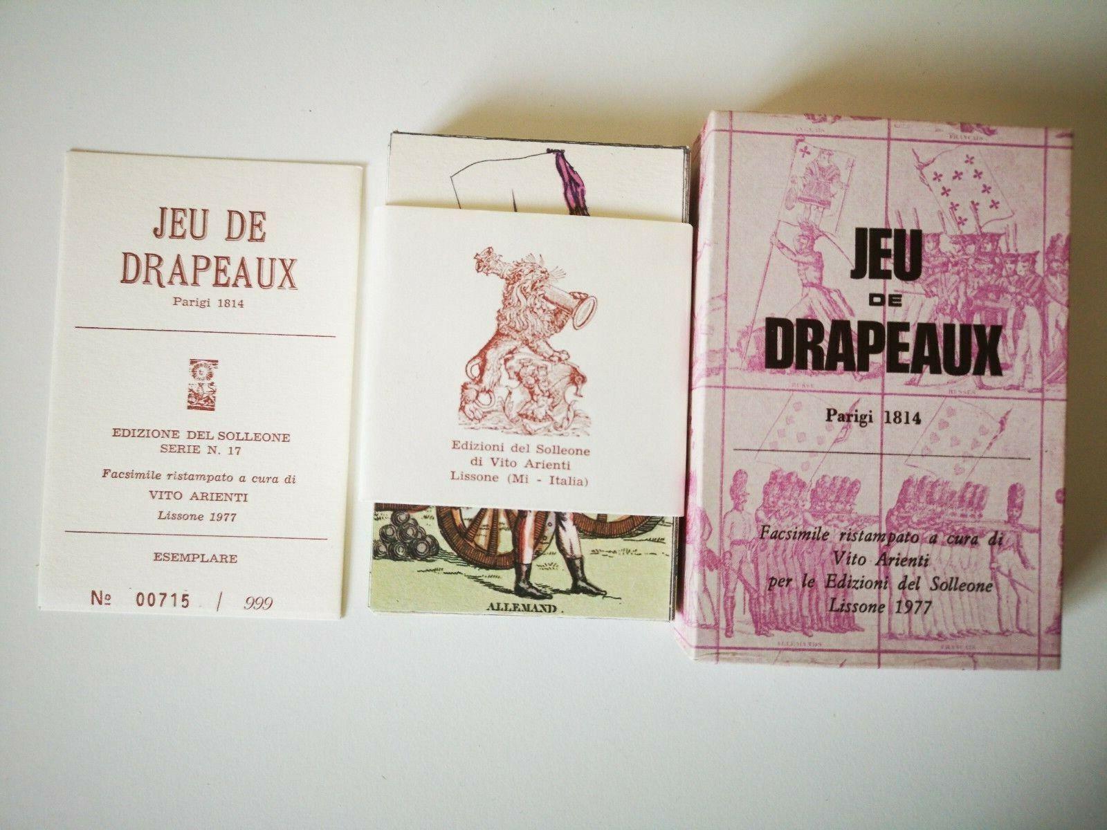 Rare Vintage Jeu de Drapeaux Playing Cards Tared Limited Solleone Vito  Arienti