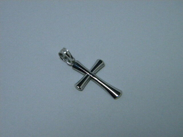 Cross 14K White Solid gold 3 4ths inch x 1 2 inch Tapered Beveled ends