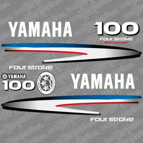 Yamaha 100 four stroke outboard 2002-2006 decal aufkleber addesivo sticker set