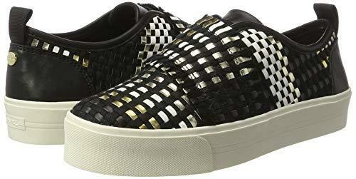 Size Kg Flat Carvela £132 White 36 Leave Rrp Trainers Leather Shoes 3 Real Black xp1tEqqZ