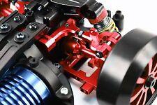 RC Car Hop Up Alloy ADJUSTABLE REAR UPPER ARMS Fit TAMIYA TT01 TT01E Camber RED