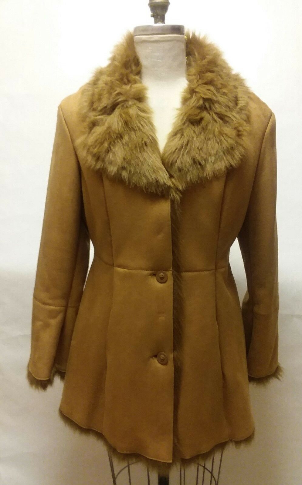 Jones New York Rust color Faux Suede Coat  Size Medium