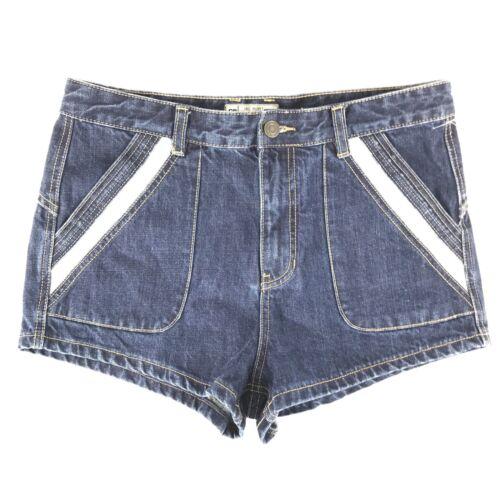 tasche cintura gratis 30 in blu con scuro passanti per per denim Pantaloncini persone Ip7BBa