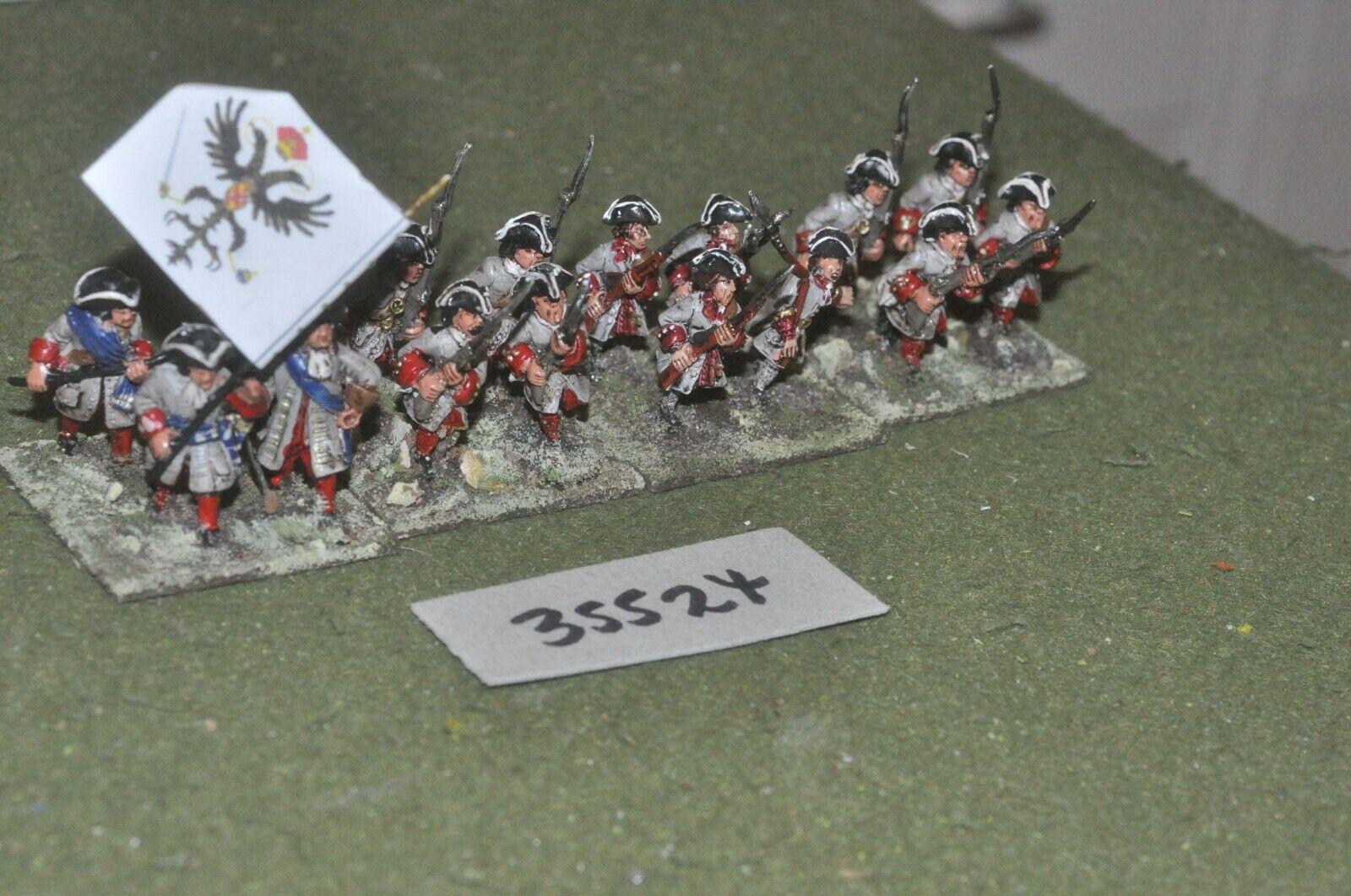 25mm marlburian   austrian - regiment 16 figures - inf (35524)