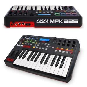 AKAI-MPK225-controller-keyboard-tastiera-MIDI-USB-25-tasti-8pad-pc-mac-GARANTITA