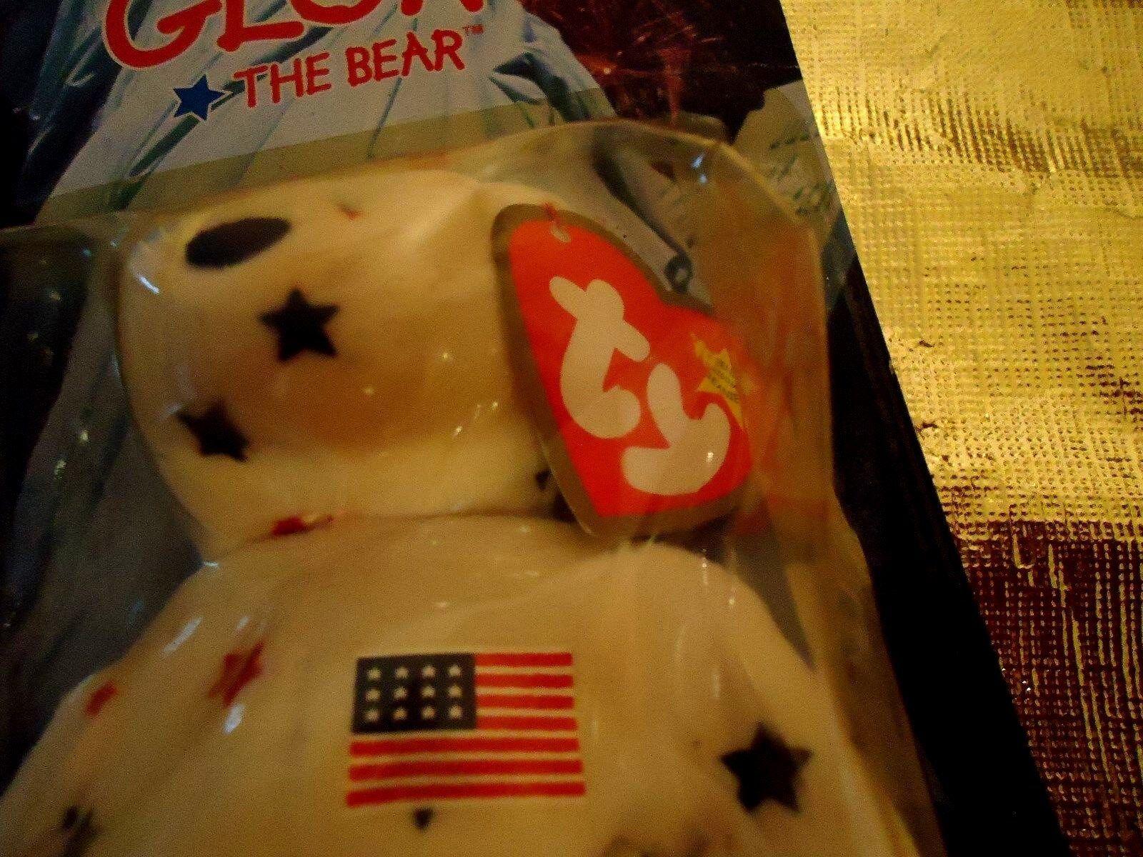 1999 ty ty ty glory the bear RARE ERRROR TAG 1993 OAKBROOK IN ORGINAL BOX MINT CONDITI 3b4ec1