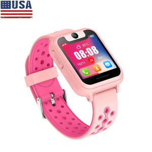 Details about Waterproof Pink Anti-lost Kids Safe GPS Tracker SOS Call  Digital Smart Watch US
