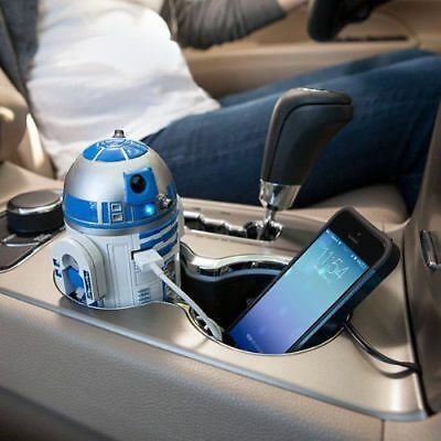 Star Wars R2-D2 USB Car Charger For iPhone iPad Andoroid Official Licensed New