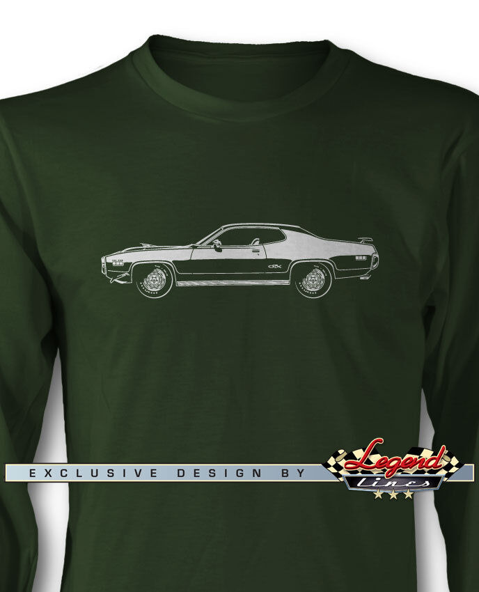 1971 Plymouth GTX HEMI Coupe Long Sleeves T-Shirt - Multiple colors and Sizes