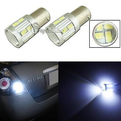 2pcs High Power White 1156 P21W 16-5230-SMD LED Projector Bulbs Backup Light #39