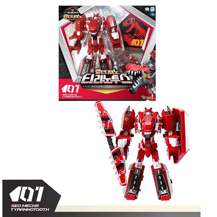 Geo Mecha Captain Dino TYRANOTOTH Transformation Roboter Spielzeug Action Figur neu