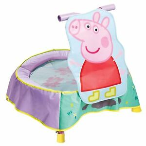 Junior-Infantil-Peppa-Pig-Trampolin-Amortiguado-Acojinado-Cubierta-Al-Aire-Libre