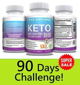 Ultra-Fast-Pure-Keto-BHB-Weight-Loss-Diet-Pills-90-CAPSULE-Ketogenic-Supplement