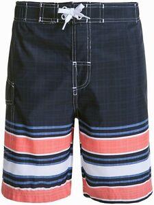 472c30594f NWT Original Penguin Boys Swim Board Shorts Blue Striped Big Kids ...