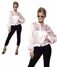 Item 2 Pink Las Jacket Official Grease Fancy Dress Womens 1950s 50s Rock N Roll Lady