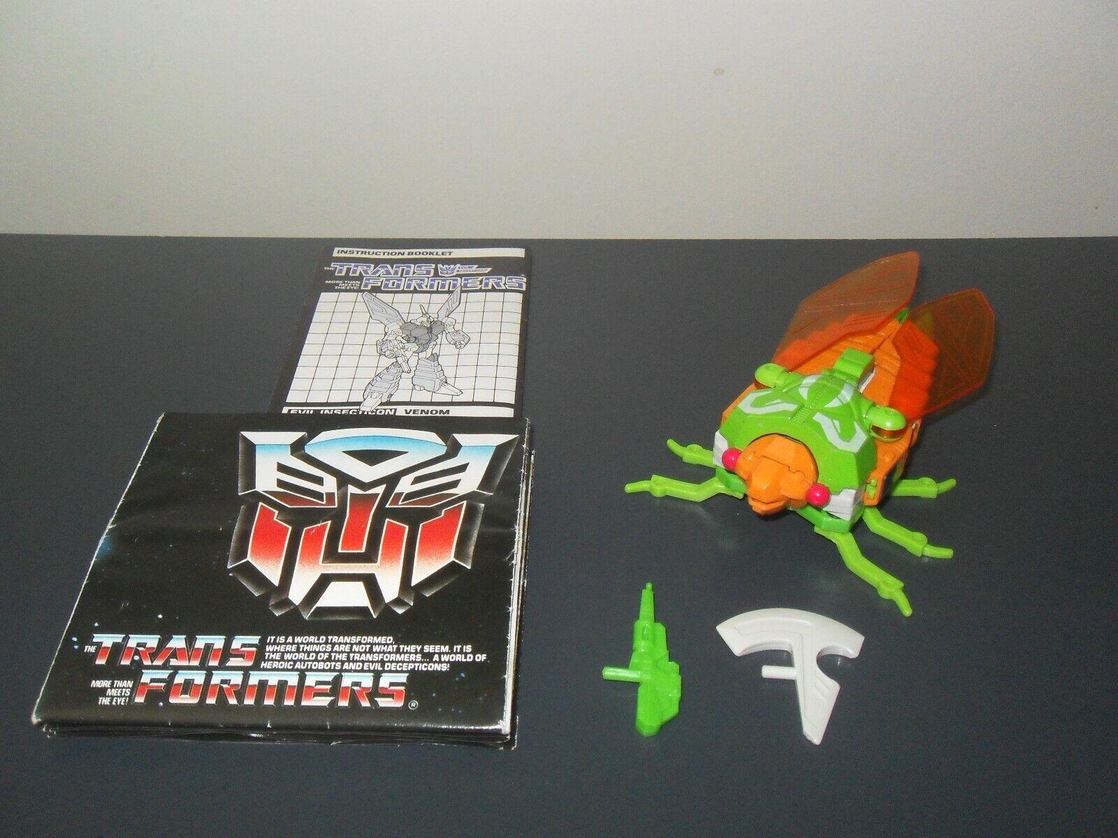 Transformers g1 original vintage insecticons venom 100% complete