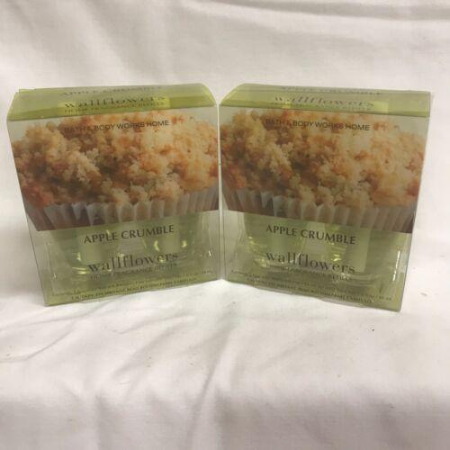Bath /& Body Works WALLFLOWER Refill Bulbs APPLE CRUMBLE scent x 4 2 packs!
