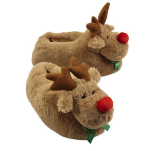 18ba739ea87 Image is loading LARGE-SLIPPERS-RUDOLPH-Red-Nosed-Reindeer-New-Adult-