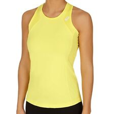Asics Womens Yellow Athlete Tank Top Training Sport Tennis Vest Tee T Shirt  XL