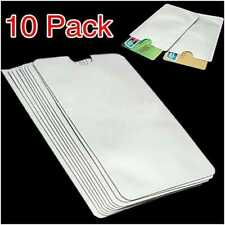 Value Pack of 10 Anti-Theft RFID Credit Card Protective Sleeve-Shield-Blocker