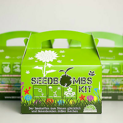 Die Stadtgärtner - Seedbombs DIY-Kit für Kinder - Samenbomben zum Selbermachen